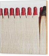 Matches Wood Print