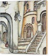 Matera Wood Print by Pamela Allegretto