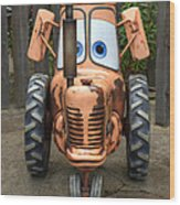 Mater's Tractor Wood Print