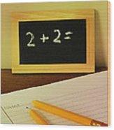 Math Frustration Wood Print