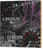 Math Science Invention Wood Print