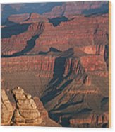 Mather Point At Sunrise On The Grand Canyon Wood Print