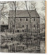 Mather's Grist Mill Wood Print