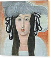 Matisse's The Plumed Hat Wood Print