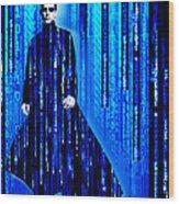 Matrix Neo Keanu Reeves 2 Wood Print
