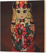 Matryoshka Little Matron Wood Print