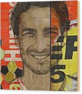 Mats Hummels Wood Print by Corporate Art Task Force