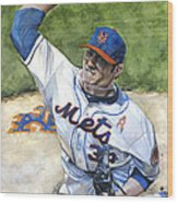 Matt Harvey Wood Print by Michael  Pattison