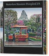 Matterhorn Mountain Disneyland Collage Wood Print