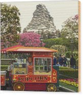 Matterhorn Mountain With Hot Popcorn At Disneyland 01 Wood Print