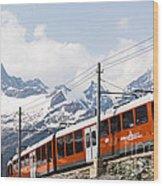 Matterhorn Railway Zermatt Switzerland Wood Print by Matteo Colombo
