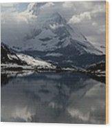Matterhorn Reflection From Riffelsee Lake Wood Print by Jetson Nguyen