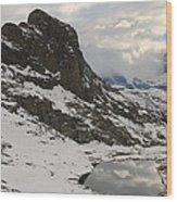 Matterhorn Shrouded In Clouds Wood Print by Jetson Nguyen