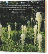 Matthew 6 Wood Print