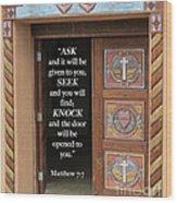 Matthew Seven Seven Wood Print