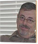 Mature Man Looking At Viewer Wood Print