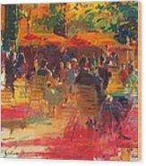 Maturing Sun, Paris Oil On Canvas Wood Print