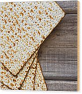 Matza Background Wood Print