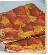Matza Pizza Wood Print
