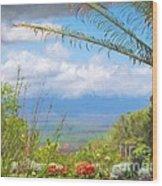 Maui Botanical Garden Wood Print