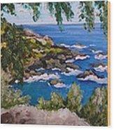 Maui Cliff Wood Print