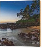 Maui Cove - Beautiful And Secluded Secret Beach. Wood Print