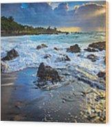 Maui Dawn Wood Print by Inge Johnsson