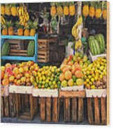 Maui Fruits And Vegetables Wood Print