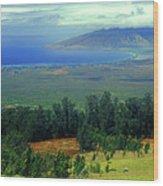 Maui Hawaii Upcountry View Wood Print