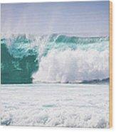 Maui Huge Wave Wood Print by Denis Dore