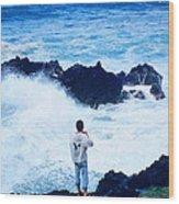 Maui Shore At The Keanae Pennisula 2 Wood Print