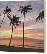 Maui Sunrise Wood Print
