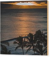 Maui Sunset 1 Wood Print
