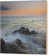 Maui Tidal Swirl Wood Print