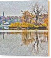 Maumee River Looking Toward Perrysburg Wood Print