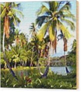 Mauna Lani Fish Ponds Wood Print