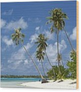 Maupiti Lagoon Wood Print
