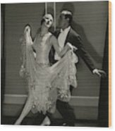 Maurice Mouvet And Leonora Hughes Dancing Wood Print