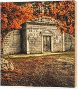 Mausoleum Wood Print by Bob Orsillo