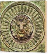 Mausoleum Lion Wood Print