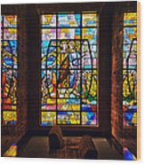 Mausoleum Stained Glass 01 Wood Print