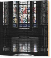 Mausoleum Stained Glass 05 Wood Print