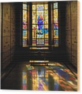Mausoleum Stained Glass 06 Wood Print