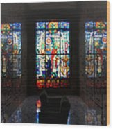 Mausoleum Stained Glass 07 Wood Print