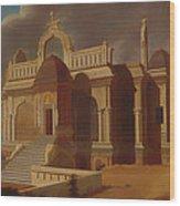 Mausoleum With Stone Elephants Wood Print