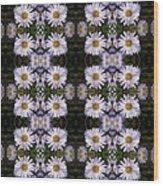 Mauve Beauty Pattern Wood Print