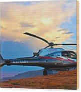 Maverick Helicopter Wood Print