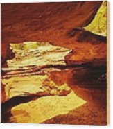 Maverick Natural Bridge Wood Print