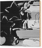 Max Americana In Black And White Wood Print