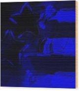 Max Americana In Blue Wood Print